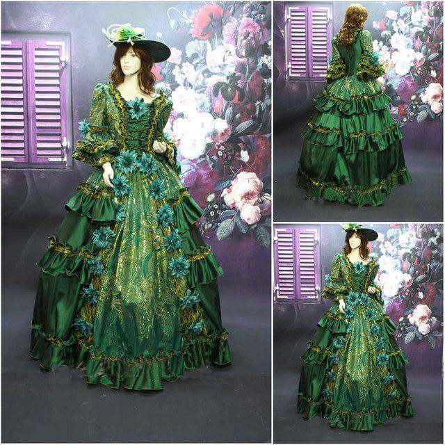 Kunden Made 19 Century blau viktorianischen Kleider 1860 S ...