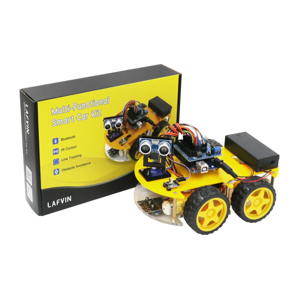 LAFVIN Multi-function 4WD Robot Car Kits Ultrasonic Module Robot Car Assembly Kit For Arduino