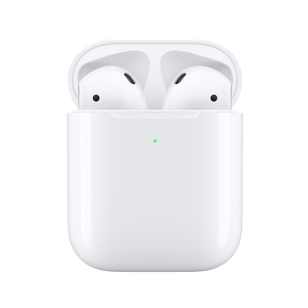 Original <font><b>Apple</b></font> <font><b>Airpods</b></font> 2nd Wireless In-ear Bluetooth Earphones TWS Deeper Bass Headsets Powerful Battery with Charging Case image