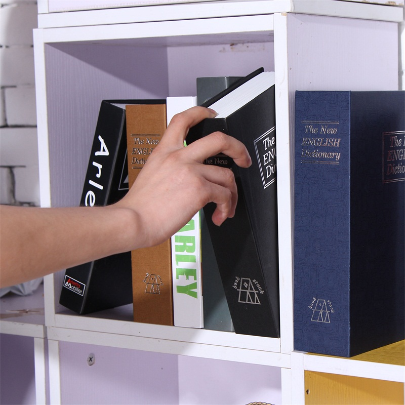Size M 4/Color Combination Lock Hidden Box Security Lock Key English Dictionary Lock Strongbox Steel Simulation 240*155*55mm