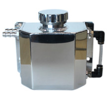 SPSLD Универсальный Масляный бак радиатор перелива хладагент восстановление бутылка для воды может полированный резервуар Алюминий 1000 мл
