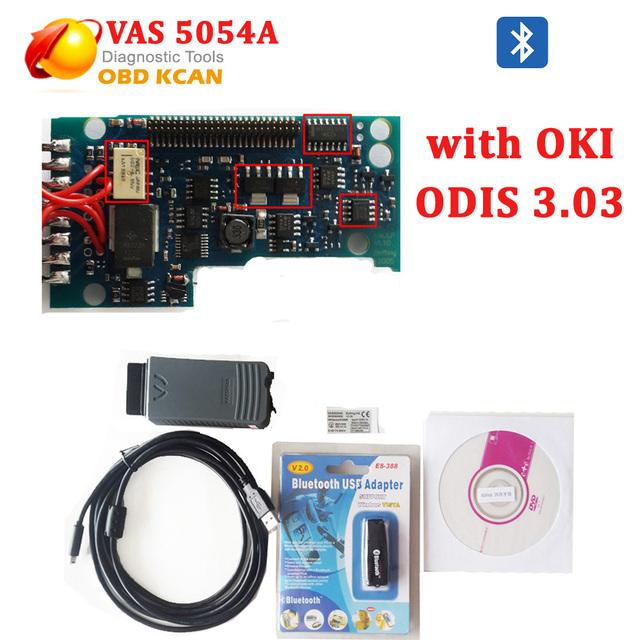Melhor Qualidade Ferramenta De Diagnóstico VAS 5054A ODIS 3.0.3 com Função OKI vas5054 vas 5054 vas5054a Bluetooth Frete Grátis