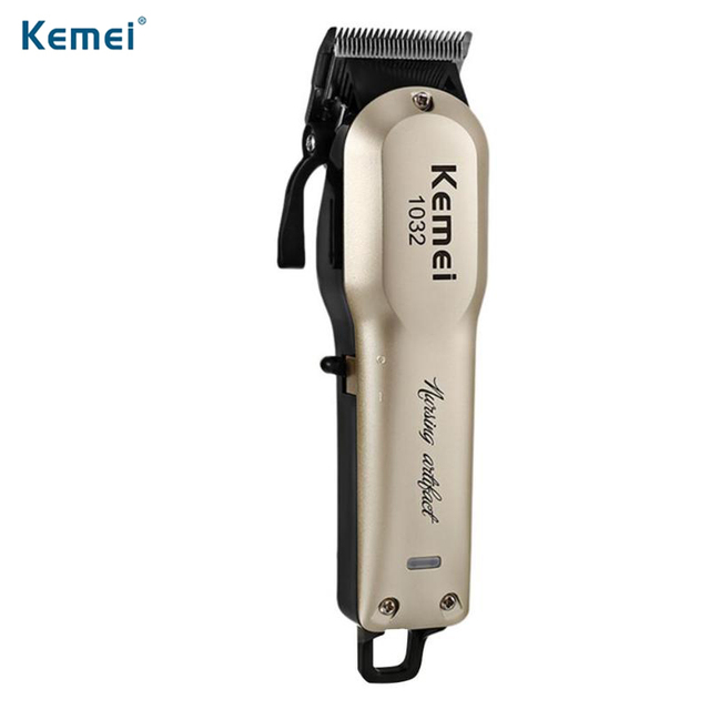 Kemei KM-1032 pelo recargable Trimmer eléctrico barba Trimmer pelo  inalámbrico cortador de afeitar máquina 04e8e213071b
