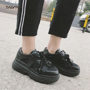Image 4 - SWYIVY Mesh Casual Shoes Women Sneakers 2019 New Female Shoes White Breathable Ladies Shoe Low Cut Platform Sneakers Women
