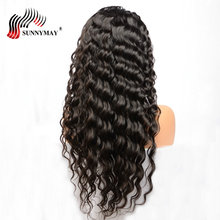 hot deal buy sunnymay full lace human hair wigs malaysian virgin hair loose wave pre plucked lace wigs with baby hair for black women