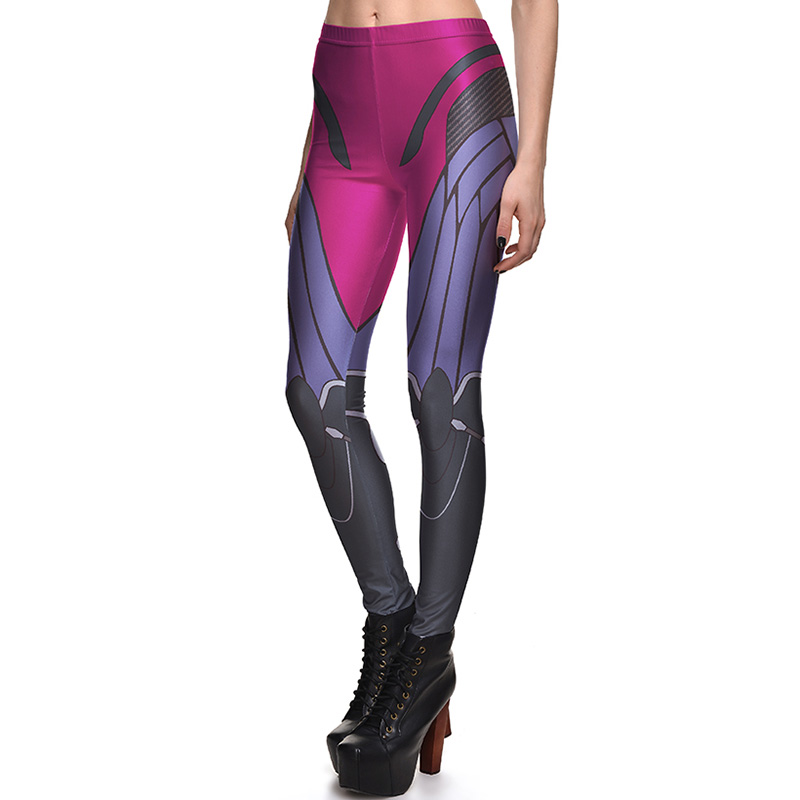 New 3793 Sexy Girl Slim Ninth Pants Blizzard Widowmaker Heros Cosplay Printed Stretch Fitness Women Leggings Plus Size