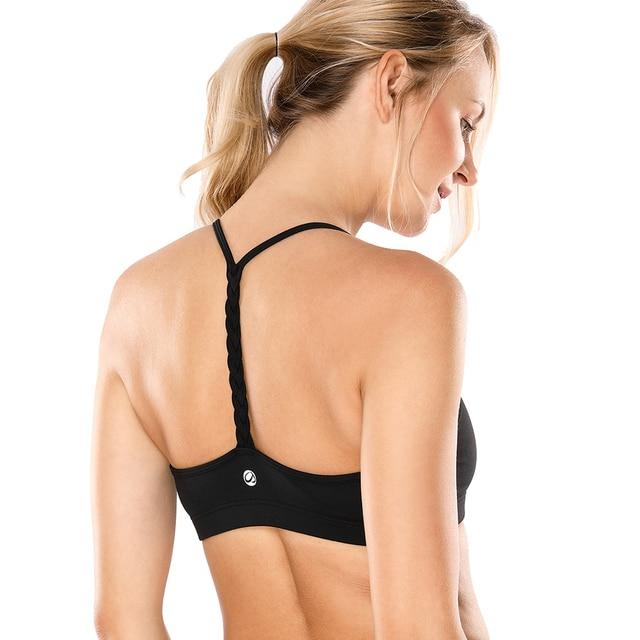 8e52a2fe86 Women s Light Support Braided T Back Fashion Yoga Sports Bra-in ...