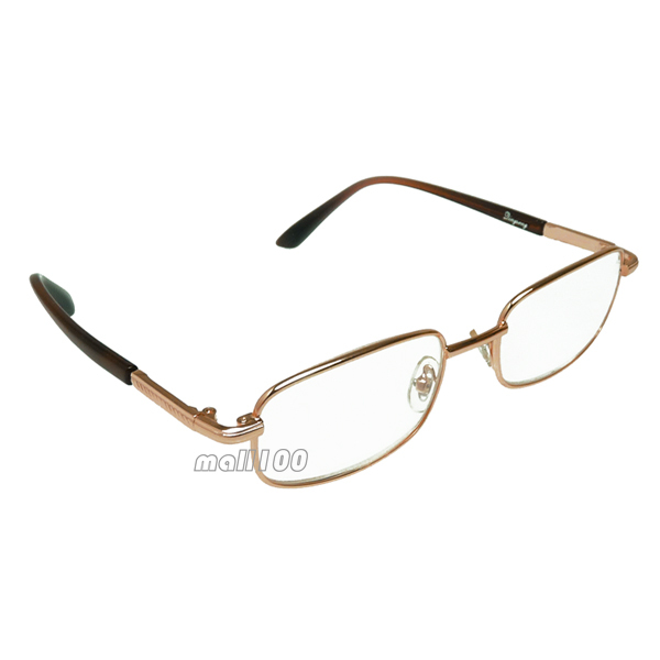 aliexpresscom buy glass clear lens gold metal frame half rim women men portable fashion reading glasses 5075100125150175200400450600 from
