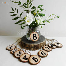 10pcs Wooden Table Numbers Holder Wedding Party Direction Signs Rustic Supplies Event Centerpieces for Wedding Decoration Number 10pcs rustic table numbers wooden name place cards holders rack wedding party direction signs shabby chic number home decoration