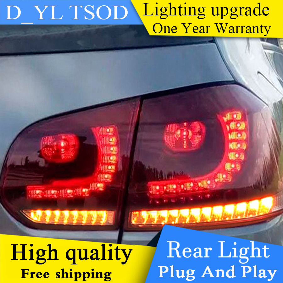 Car Styling Tail light Accessories for VW Golf 6 LED Taillights 2009 2012 Golf mk6 Tail