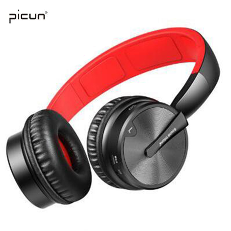 Picun BT16 Foldable Wireless Bluetooth Stereo Headphones With Mic Support TF Card Headset For iPhone 6 6s 7 8 X And Android PC new products picun c6 stereo headphones earphone with mic best bass foldable headset for iphone 6s pc mp4 xiaomi huawei meizu
