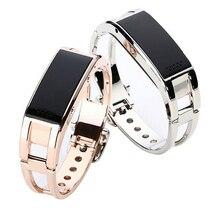 สร้อยข้อมือบลูทูธS Mart W Atch D8สมาร์ทกำไลข้อมือเครื่องประดับแฟชั่นหรูหรานาฬิกาสำหรับAndroid IOSระบบสำหรับแอปเปิ้ล/ huawei/โซนี่นาฬิกา