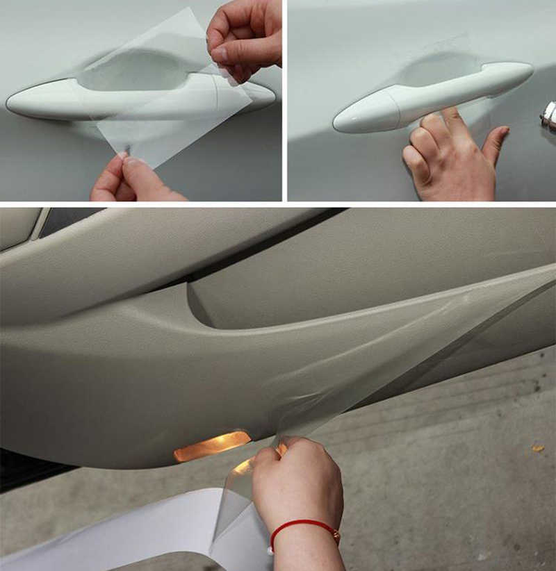 Rhino Skin Car Bumper Hood Paint Protection Film Vinyl Clear Transparence  film thickness:0 2mm 10/15/20/ x 4 meters