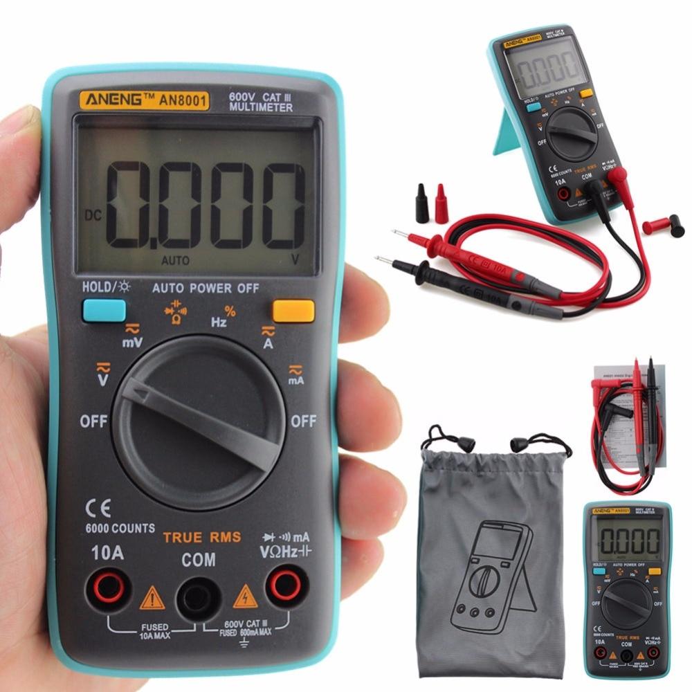 Ac Dc Digital Voltmeter Kit : Digital multimeter counts backlight ac dc meter