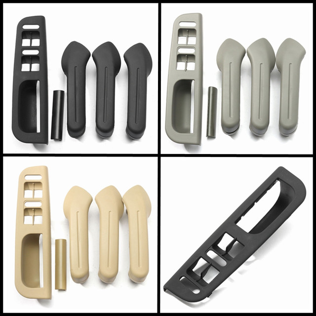 LHD Interior Door Grab Handle Cover Switch Bezel Set For VW Jetta Golf Bora MK4  Interior Door Handles Black Grey Beige
