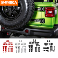 SHINEKA Car Stickers for Jeep Wrangler JL 2018 ABS Car Spare Tire Hood Hinge Tailgate Tail Door Handle Hinge Decoration Stickers