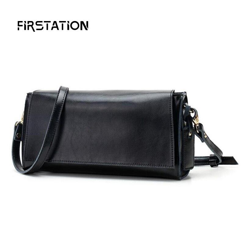 ФОТО New Vintage Female Genuine Leather Bags High Quality 5 Solid Colors Woman Shoulder Small Crossbody Bag Women Clutch Bag Wm0612