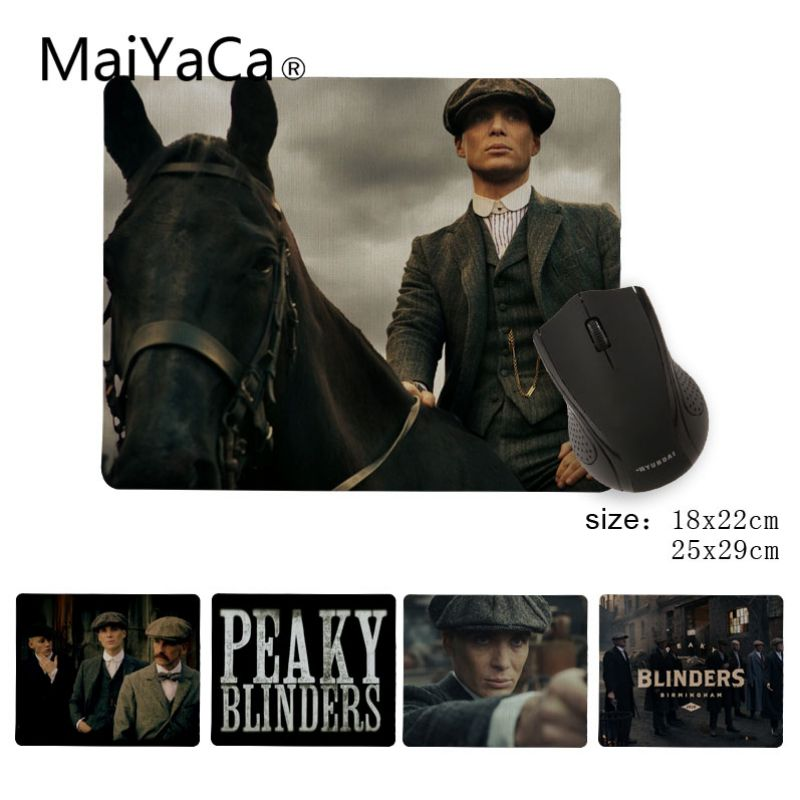 MaiYaCa TVs And Movie Peaky Blinders  Rubber Mouse Durable Desktop Mousepad Size For 25X29cm Gaming Mousepads
