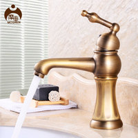 Moshen Copper Basin Faucet Single Lever Hole Undercounter Washbasin And European Antique Sink Faucet