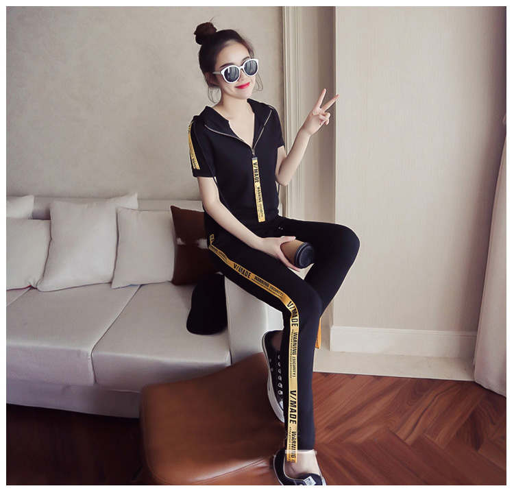 Youth clothing for women tracksuit for women 2 piece set Large size clothing for women Knitted pullover Hooded tops + pants 4558 33