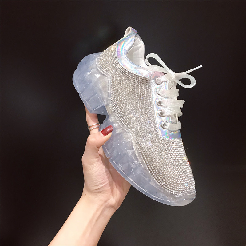 De Nouvelle Mode Diamant 2 Chaussures 1 Simples Sport Rouge Printemps Net Étudiants Femmes Marée xFtn1t