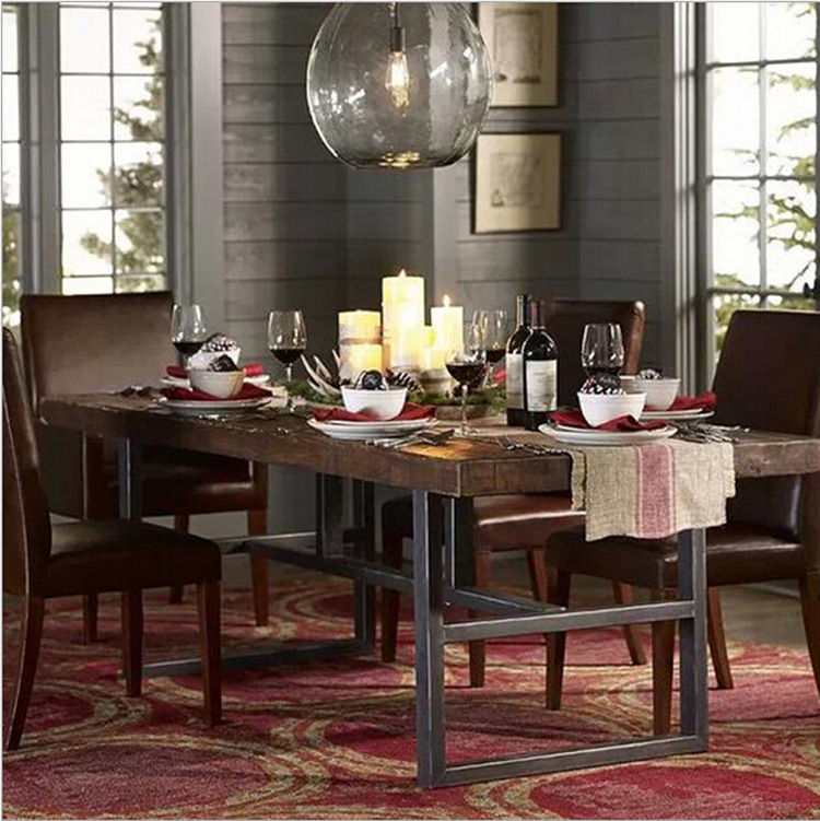 American Iron Dinette Combination Of Solid Wood Dining