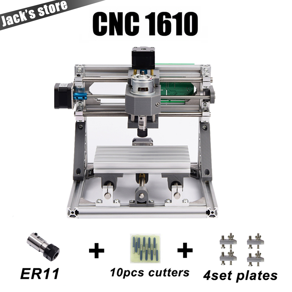 CNC 1610 with ER11,diy cnc engraving machine,mini Pcb Milling Machine,Wood Carving machine,cnc router,cnc1610,best Advanced toys 1610 mini cnc machine working area 16x10x3cm 3 axis pcb milling machine wood router cnc router for engraving machine