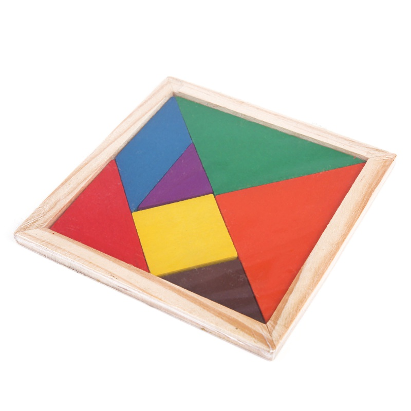 2017 Toy Children Mental Development Tangram Wooden Jigsaw Puzzle Educational Toys Birthday Gifts For Children 1000pcss wooden puzzles wool puzzle adult decompression toy jigsaw puzzle for children s educational toys developmental game