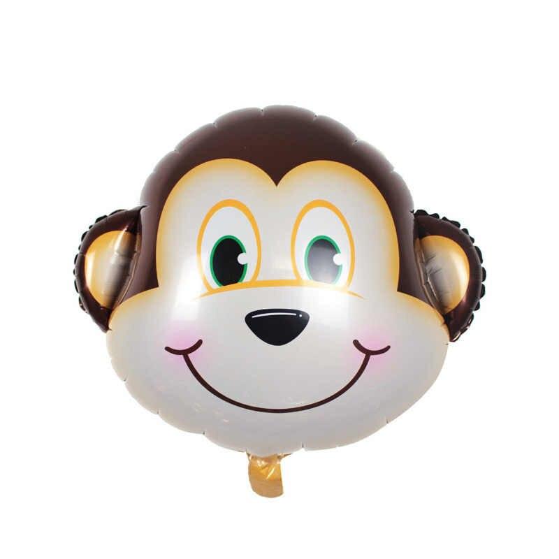 Caliente 6 unids/lote mono cebra globos de fiesta suministros Baby Show globos de papel de aluminio de aire para decoraciones de cumpleaños fiesta niños animales