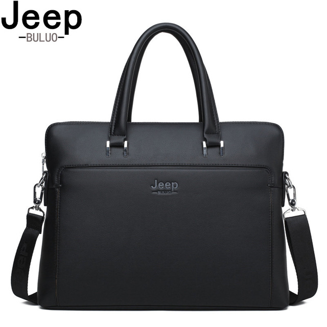 856eb44956b2 BULUOJEEP Men Briefcases Office Bags Leather Handbag For 14 inch Laptop  bags Man Business Travel Briefcase Tote Bag A4 Files