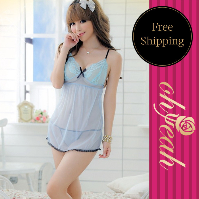 2016 Limited Sexy Costumes Babydoll Light Show Me Sexy Underwear Girls Chemises Lingerie Bride Robe Pijama For Women Bathrobe