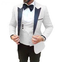 Latest Coat Pant Designs Business Party Suits Men 2019 Formal Groom Pattern White Suit Slim Fit Mens Tuxedo Wedding Suit For Men