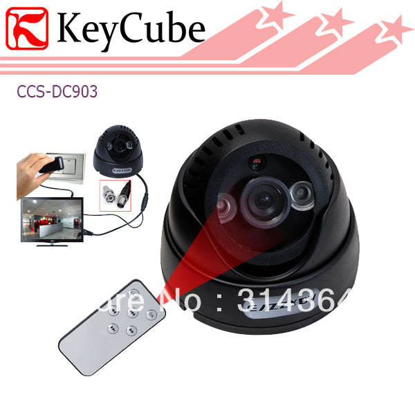 Remote Control DVR Dome Camera, LED Array SD Card TV-output, Up to 20M Night Vision Dome Camera Recorder Free Shipping keyshare dual bulb night vision led light kit for remote control drones