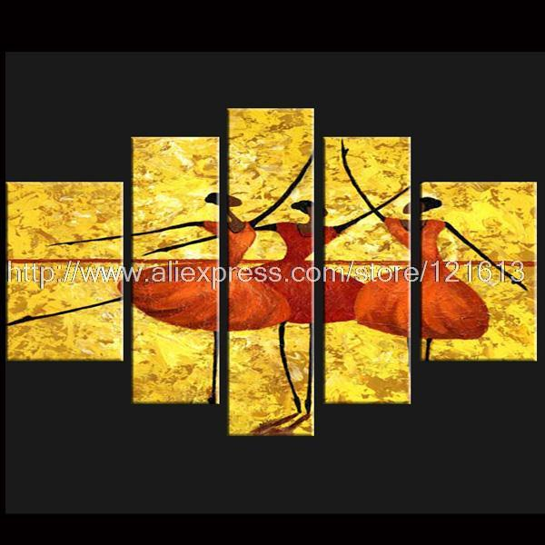 Modern Decorative Oil Paintings On Canvas Abstract Art Ballet Figure ...