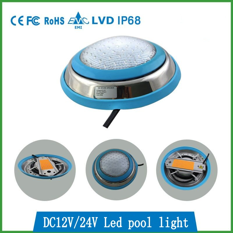 LED Swimming pool light 54W/36W/27W/18W AC/DC 12V/24V RGB IP68 DMX / LED remote control underwater Lamp Pond Outdoor Lighting free shipping to latin america waterproof smd rgb par56 led pond light 12v 18w led light ip68 2pcs lot for city rivers