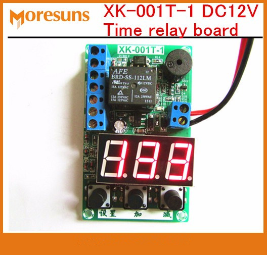 Free Ship 5pcs/lot XK-001T-1 DC12V Time Relay Board Count Voltage Testing Cycle Time Vehicle Charging Timer Protection Board