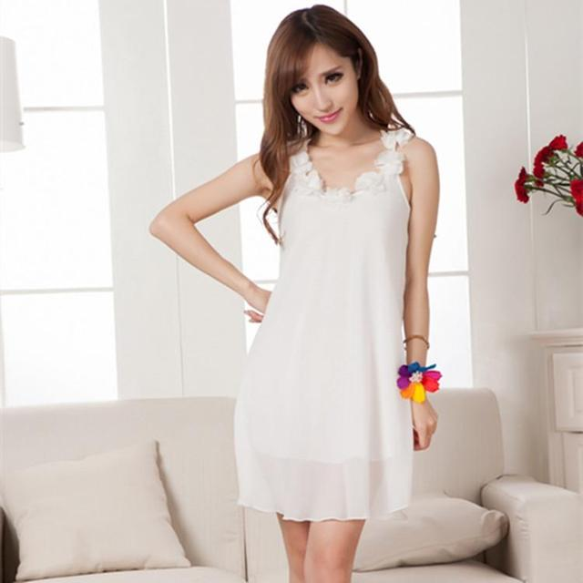 6ca3a9e633 Summer lady nightdress sexy silk thin-in Nightgowns   Sleepshirts ...