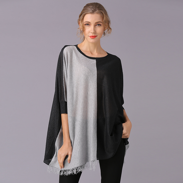 XIKOI Women T Shirt Oversize Clothing Casual Color Stitching Novelty Pullovers Fashion Tees Ladies Shirts For Women Tops 1