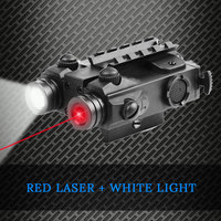 Weapon Red Dot Laser Flashlight Combo Tactical Gun Light Strobe Constant Rifle Red Laser Pointer For Hunting Miras Laser Ar15