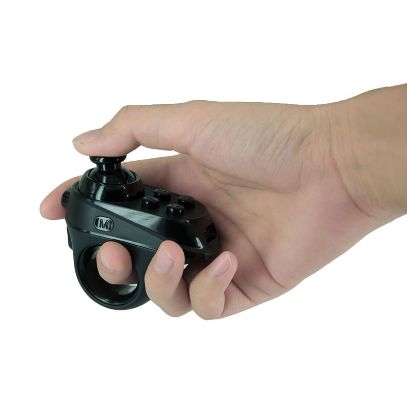 R1 Mini Ring <font><b>Bluetooth</b></font> Rechargeable Wireless single-handedly VR <font><b>Remote</b></font> Game <font><b>Controller</b></font> <font><b>Joystick</b></font> <font><b>Gamepad</b></font> for Android 3D Glasses image
