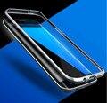 Negócio marca de Luxo À Prova de Choque 3D Curvo Ultra Fina Metal Alumínio Bumper Tampa Do Caso Do Quadro Para Samsung Galaxy S7/S7 borda Shell