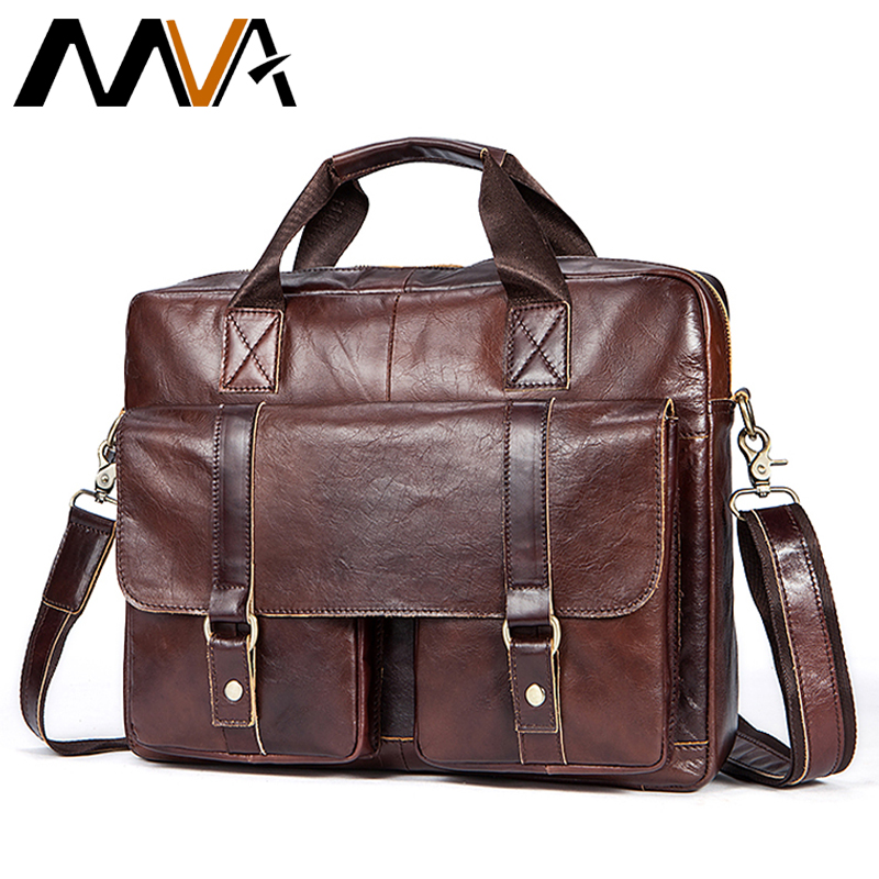 Men's Briefcase Genuine Leather Briefcase Men Man Bags Laptop Bag Leather Bag Men Business Briefcases Mens Casual Business  7804