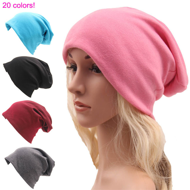 New Beanie sports street style hip - hop casual loose hat men and women Solid knitted cotton cloth Winter elasticity hat new grub street