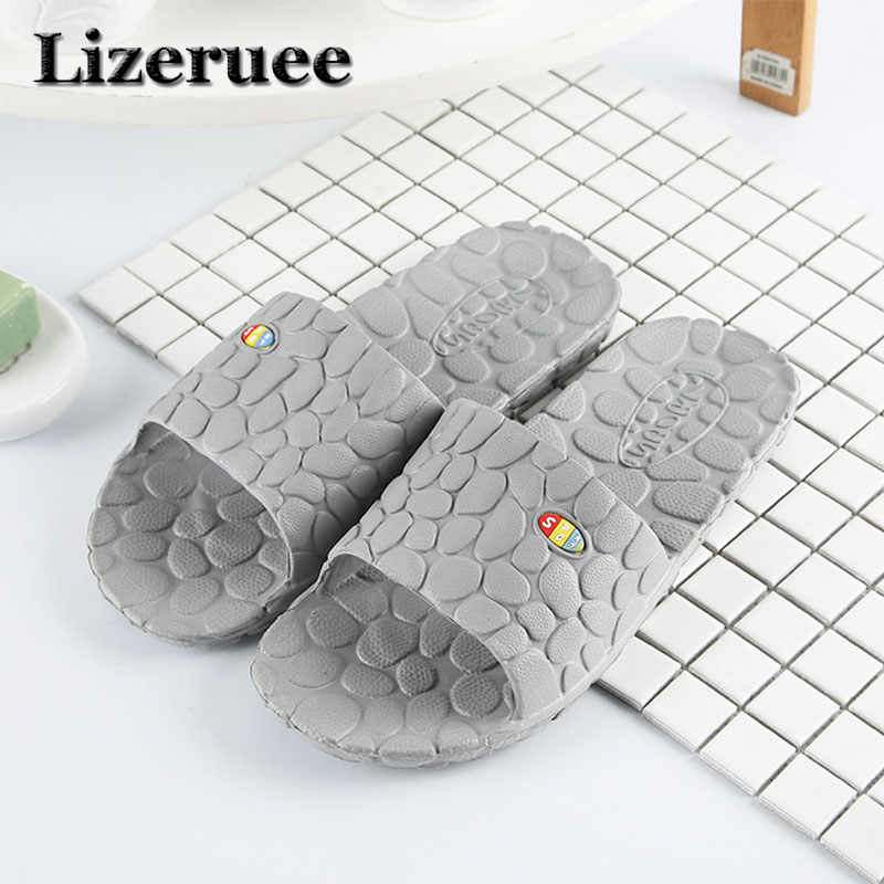 2018 New Arrival Men's Slippers Indoor Home Non-slip Massage Slippers Couples Bathroom Slippers Beach Slippers Wholesale Q91 dreamshining summer non slip bathroom slippers men and women indoor home bath slippers candy colors couples home slippers