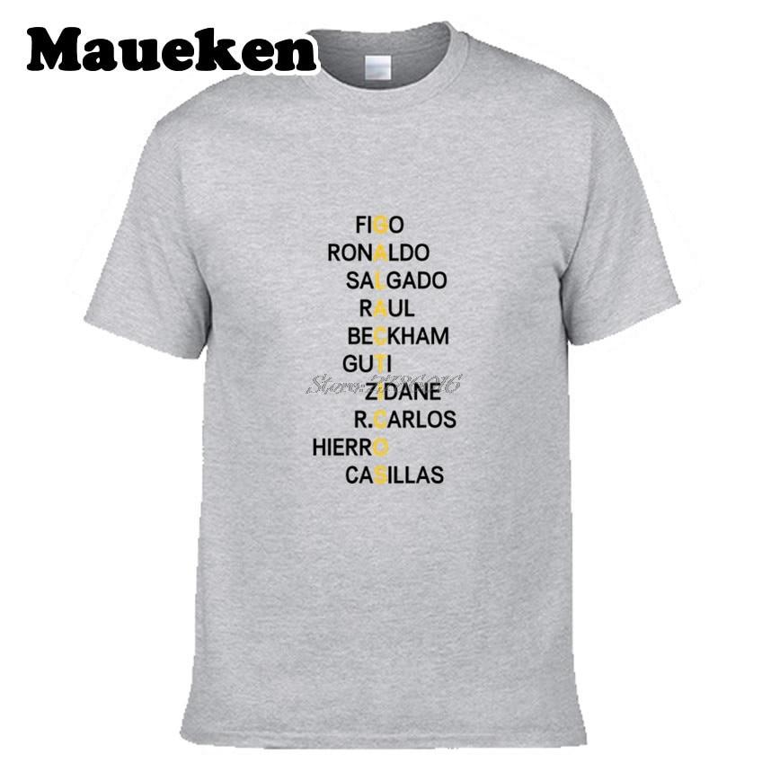 5213f7226c36a Hombres Galácticos Zidane Figo Ronaldo Raul retro crucigrama beckham guti  carlos casillas real madrid Camiseta para los amantes tee W0316003 en  Camisetas de ...