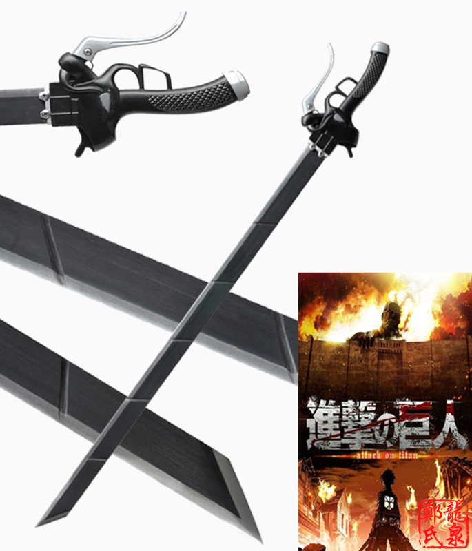 For Attack On Titan Cosplay Anime Real Steel Sword Special Operations Halloween Decorative No Sharp Supply