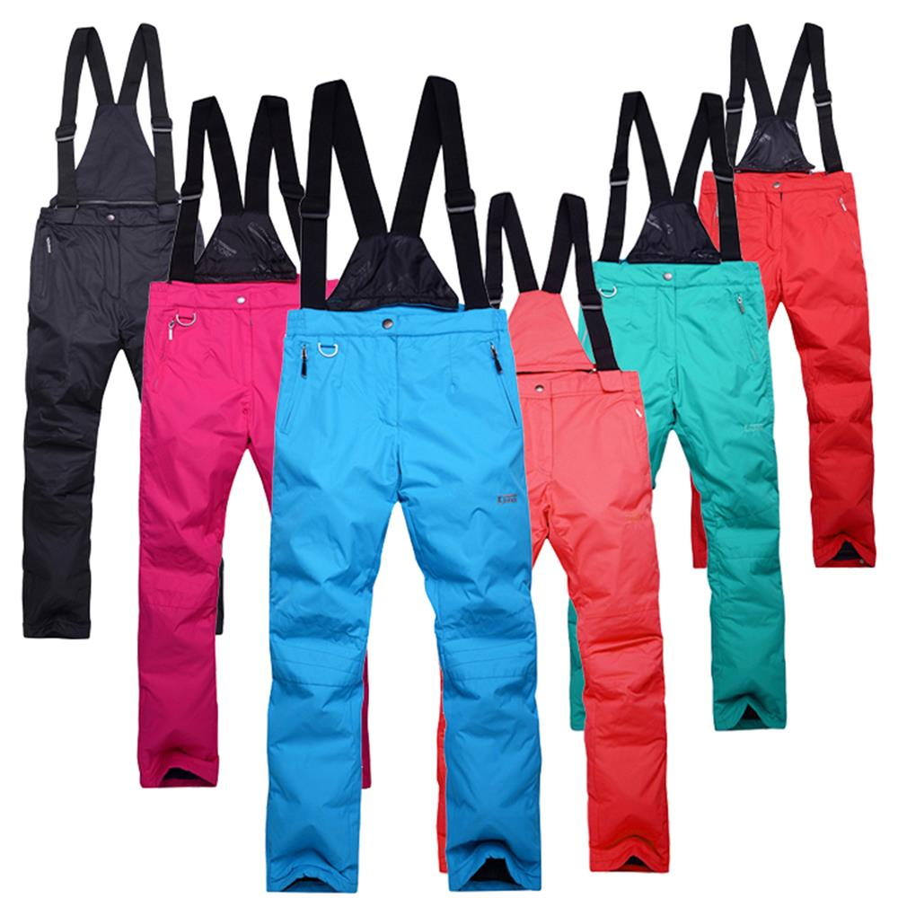 ФОТО mens skiing pants thermal breathable Waterproof Lovers Snow Bib Trousers -30 Degrees winter snowboard pants Unisex XS-3XL