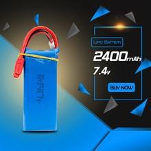 Syma X8W lipo 7.4v 2400mah  battery for syma  X8C X8G rc Quadcopter drone spare part wholesales