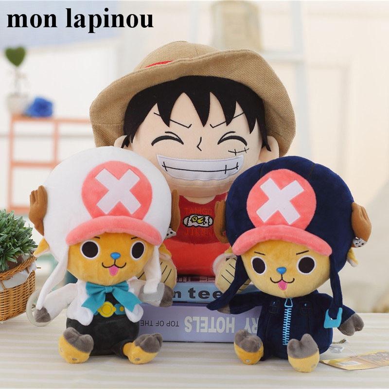 30cm One Piece Chopper Luffy Plush Toys Japanese Anime Figure Stuffed Soft Doll Kids Toys Children Birthday Christmas Gift
