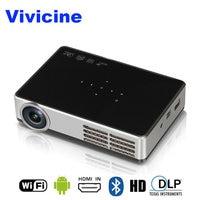 VIVICINE новейший 1280x800 портативный 3D Android 1080 p проектор, DLP HDMI USB PC wifi беспроводной домашний кинотеатр мини видеопроектор